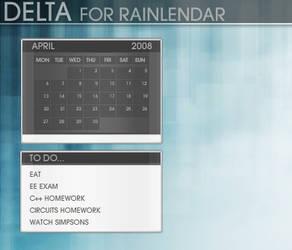 Delta Rainlendar by OmART