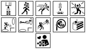 Portal Level Warning Signs by eefi