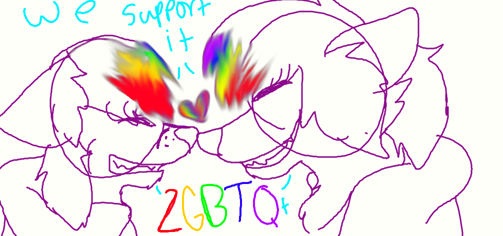 LGBTQ+ Support by MangleFoxREAL
