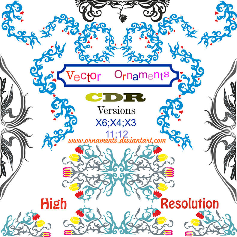 vector ornaments corel draw by ornamento