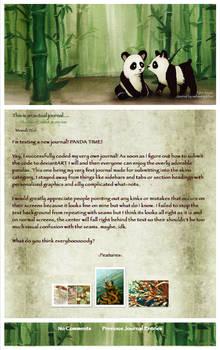 panda journal...