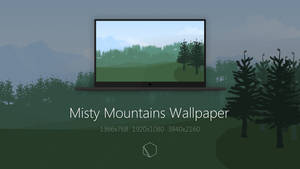 Misty Mountains Wallpaper by TheButterCat
