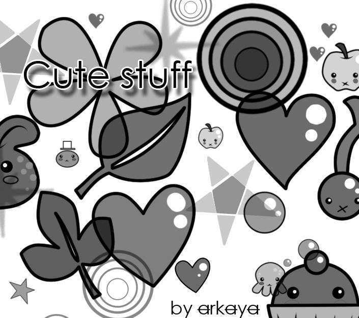 CuteStuff Brushes by arkayaStock