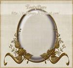 Oval Golden Frame