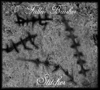 Stitches Brushes by Falln-Stock