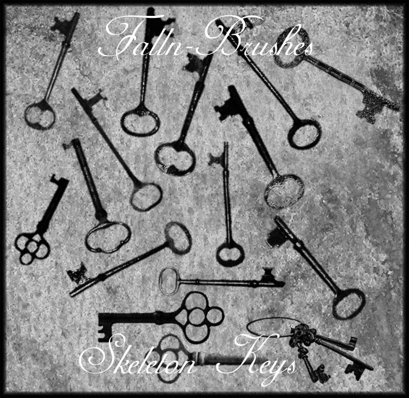 Skeleton Keys Brushes by Falln-Stock