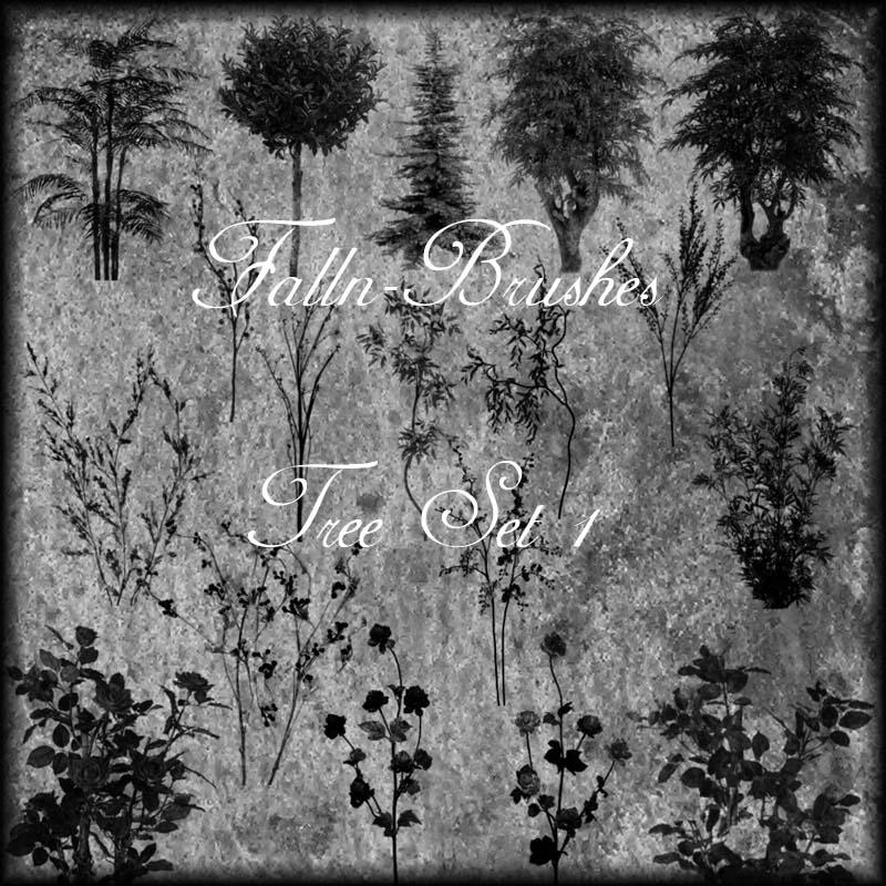 Trees and Bushes Brushes Set 1
