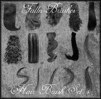 Hair Brushes Set 4 by Falln-Stock