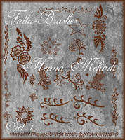 Henna Mehndi Brushes Set 1 by Falln-Stock