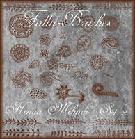 Henna Mehndi Brushes Set 2 by Falln-Stock