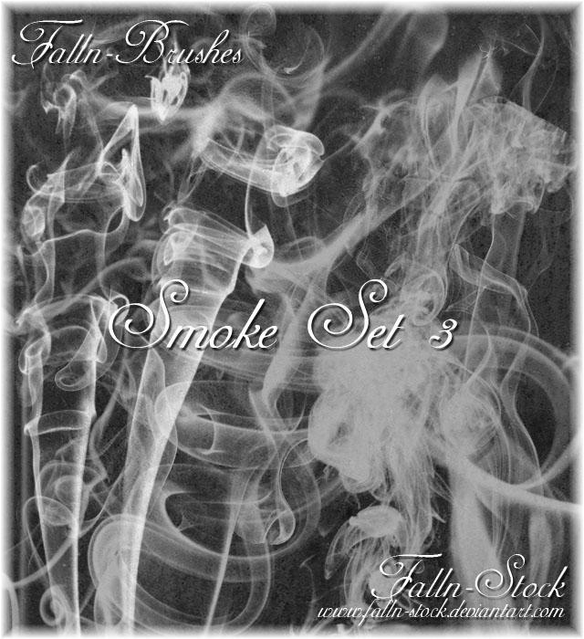 Smoke Brushes Set 3 by Falln-Stock