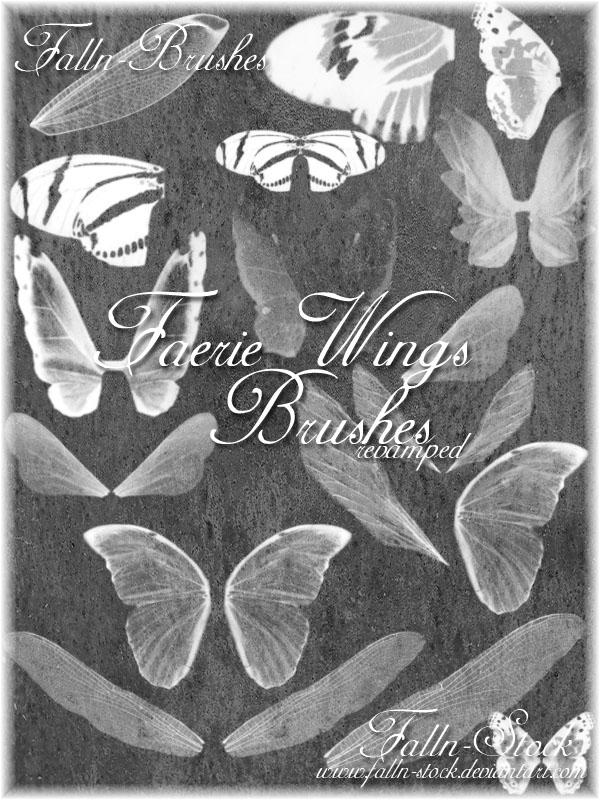 Faerie Wings Brushes Revamped by Falln-Stock