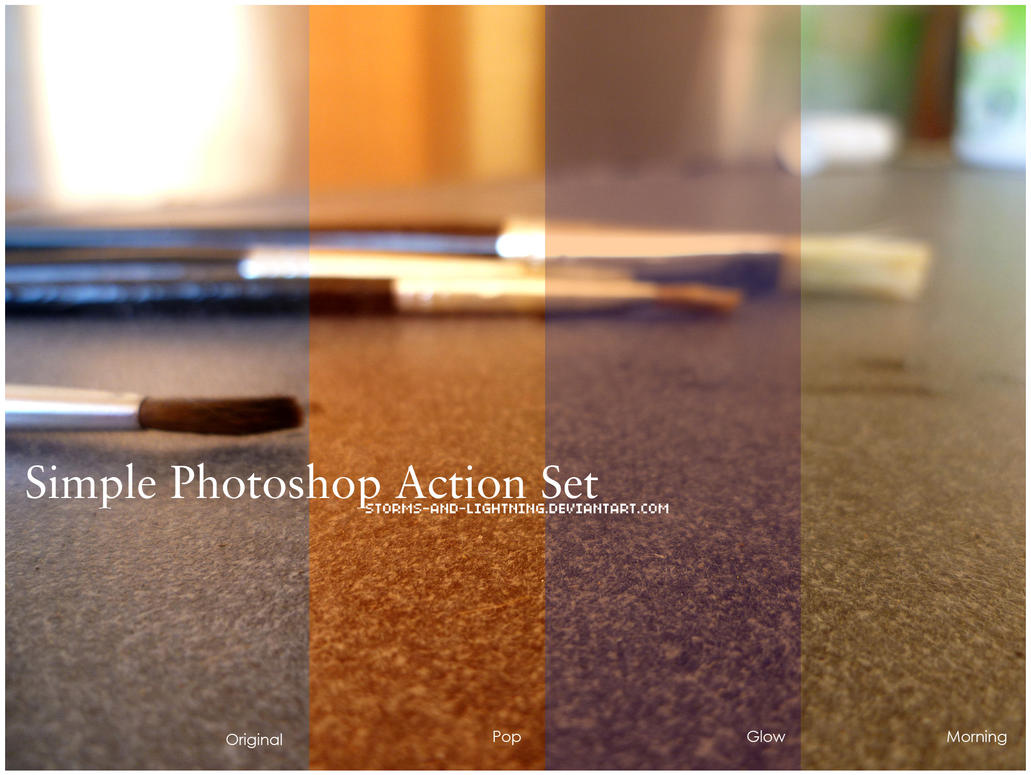 Simple Photoshop Actions Set by storms-and-lightning
