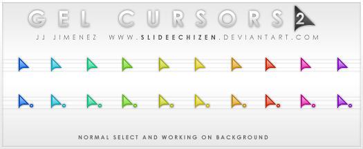 Gel Cursors 2.0 by SlideEchizen