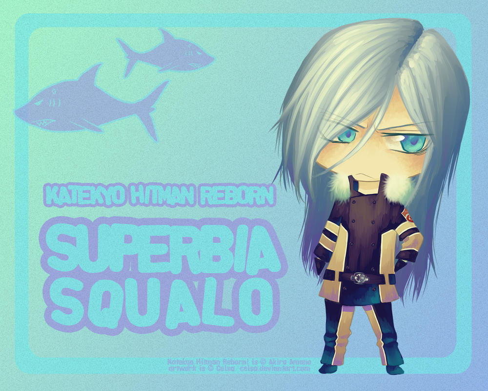 Wallpaper: Chibi Squalo by Celsa