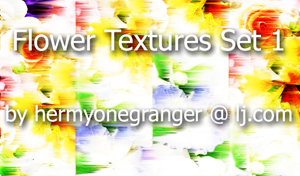 Flower Textures by hermyonegranger