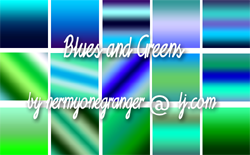 Blue and Green Gradients by hermyonegranger
