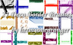 Deco Border Brushes Set 01