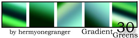 Image Pack30 Greens Gradients by hermyonegranger