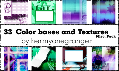 Colorbases and Textures Misc. by hermyonegranger