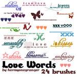 Love Words Brush Set
