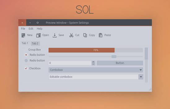 Sol - KDE Theme