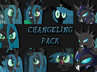 Custom MLP Icon Pack: Changeling Edition by tehAgg
