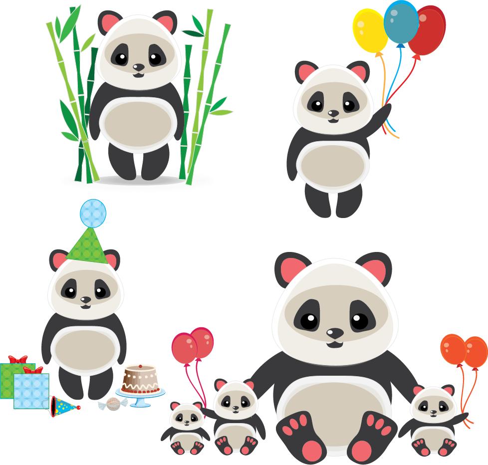Panda Group by SherryLauren