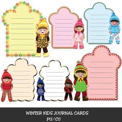 Winter Kids Journal Cards