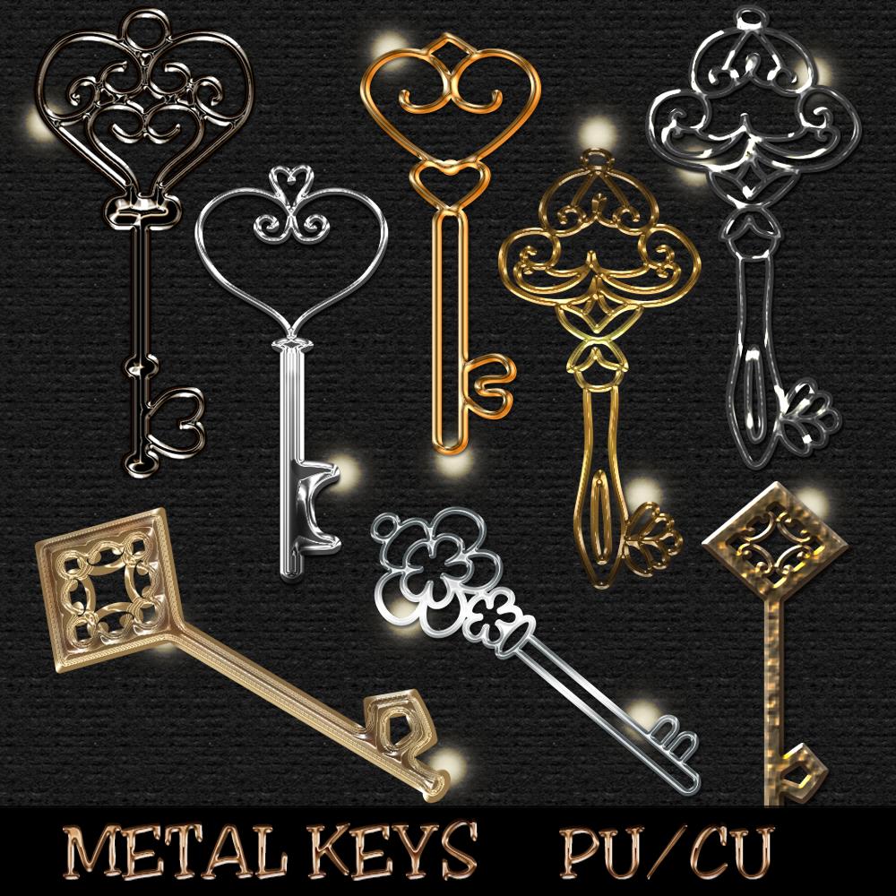 Metal Keys by SherryLauren