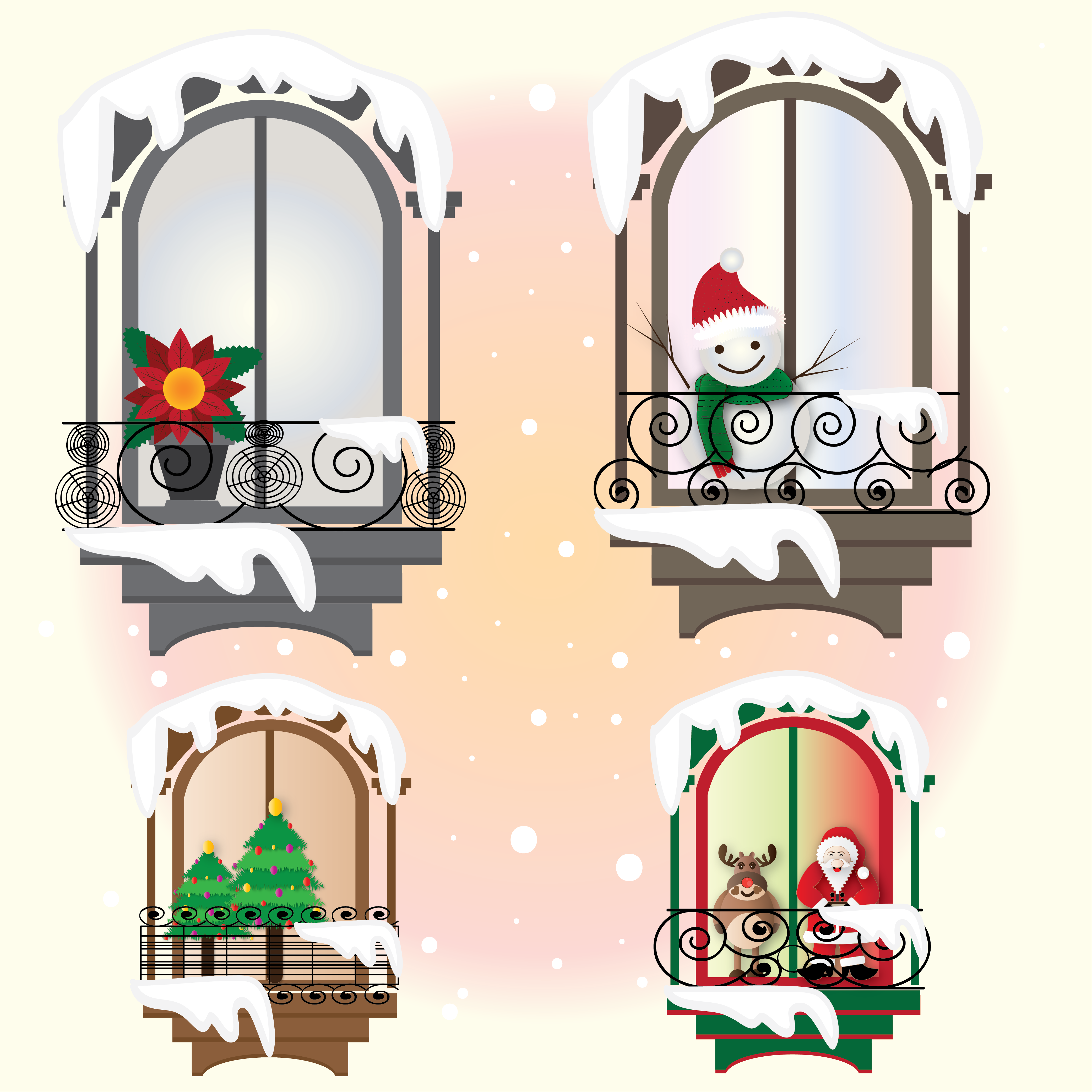 Holiday Gift 1--christmas Windows