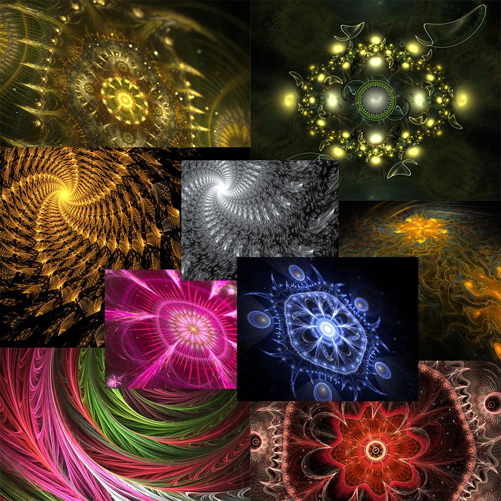 Fractal Magic Set 1(WALLPAPERS)