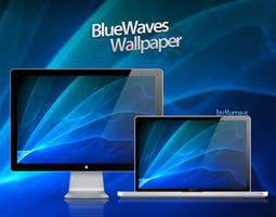 WALLPAPER - Blue Wawes by kuma-x