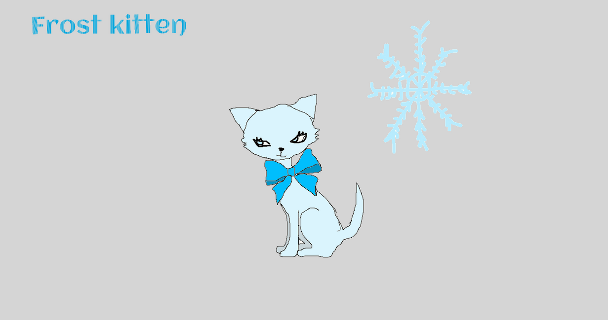 frost kitten owned by LanceLunas by kittygirl101202