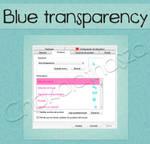 Cursor blue transparency