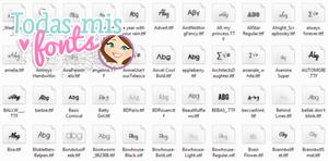 Todas mis Fonts