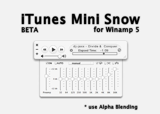 iTunes Mini Snow Beta by ijaxx