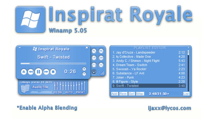 Inspirat Royale for Winamp 5 by ijaxx