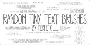 Random Tiny Text Brushes by perfetc