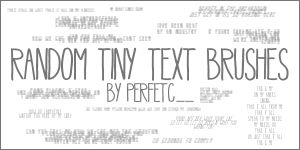 Random Tiny Text Brushes