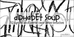 'Alphabet Soup' Brushes