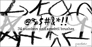 Numbers and Symbols Brushes