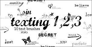 'Texting 1,2,3' Brushes