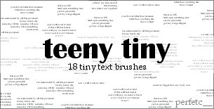 'Teeny Tiny' Brushes by perfetc