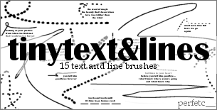'TinyText + Lines' Brushes by perfetc