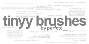 Tinyy Text Brushes by perfetc
