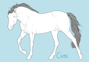 Free Stallion Lineart by BH-Adoptables