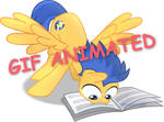 Flash Sentry_reading_GIF_Animated