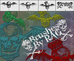Deathbat Photoshop Brushes by RiseAboveGraphics