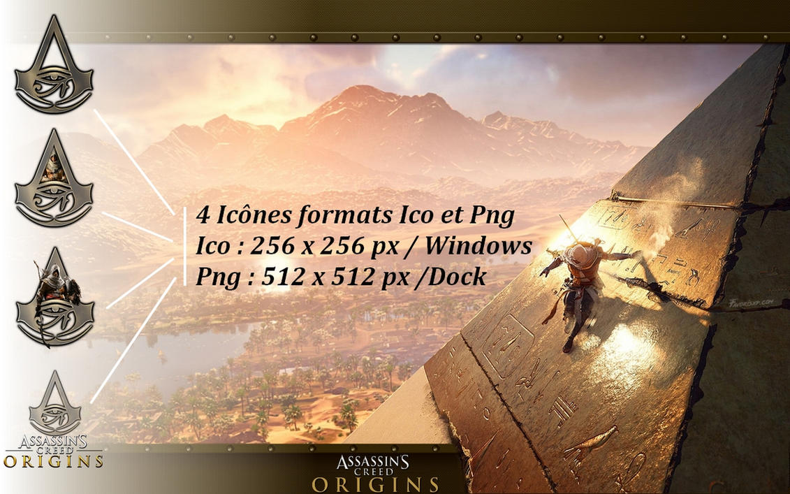 Icons Assassin's Creed Origins PNG Ico by favorisxp